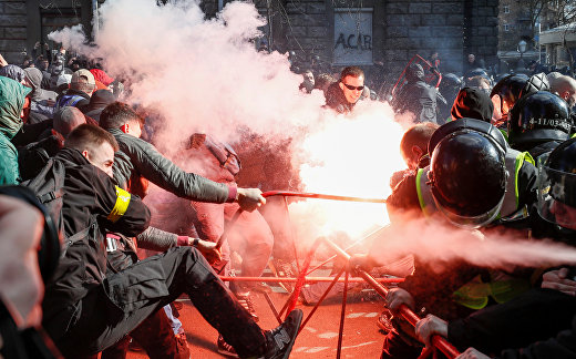 Участники митинга в Киеве