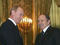 Президенты России Владимир Путин и Алжира Абдельазиз Бутефлика