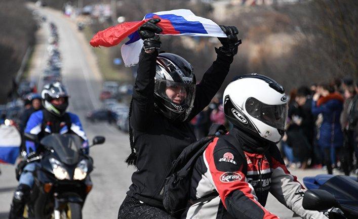 Празднование пятилетия воссоединения Крыма с Россией в Севастополе