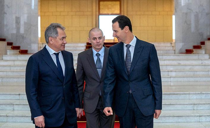 Президент Сирии Башар Асад и министр обороны России Сергей Шойгу в Дамаске