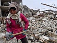 Жизнь в разрушенных районах сирийского Алеппо