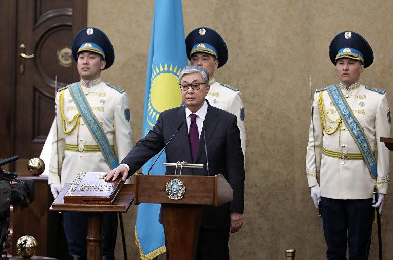 Касым-Жомарт Токаев принимает присягу в Астане