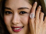Розовое кольцо с бриллиантом Pink Promise 14.93