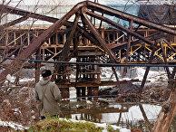 Мост, разрушенный во время бомбардировок НАТО в Крушеваце, Югославия