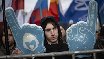 Участники согласованного митинга против действий властей в области регулирования интернет-отрасли