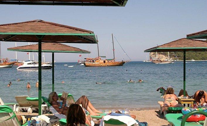 Пляж в Кемере, Турция