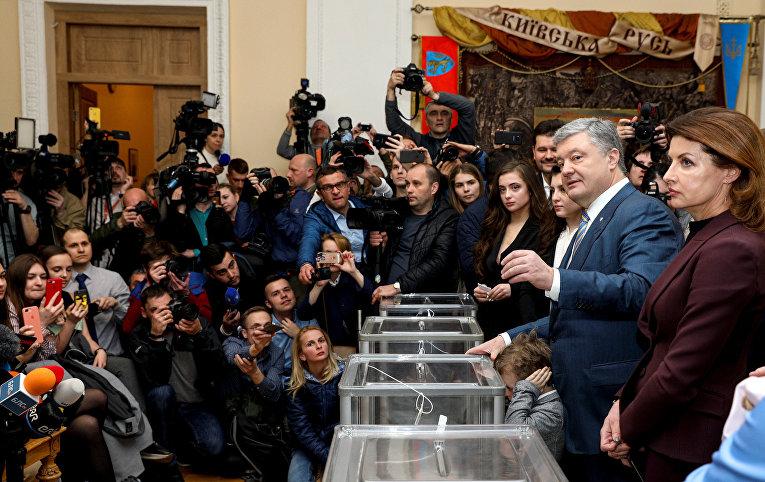 Президент Украины и кандидат в президенты Петр Порошенко