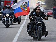 """Автопробег мотоклуба """"Ночные волки"""" в Крыму"""