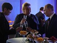 Президент РФ Владимир Путин, премьер-министр Королевства Норвегия Эрна Сульберг и министр иностранных дело Норвегии Ине Эриксен Сёрейде