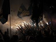 Националисты в Киеве на митинге в честь Дня защитника Украины