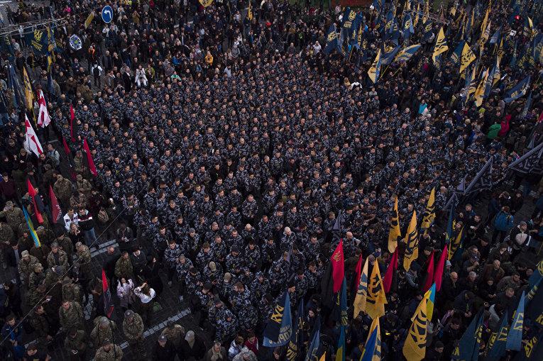 Националисты на митинге в Киеве