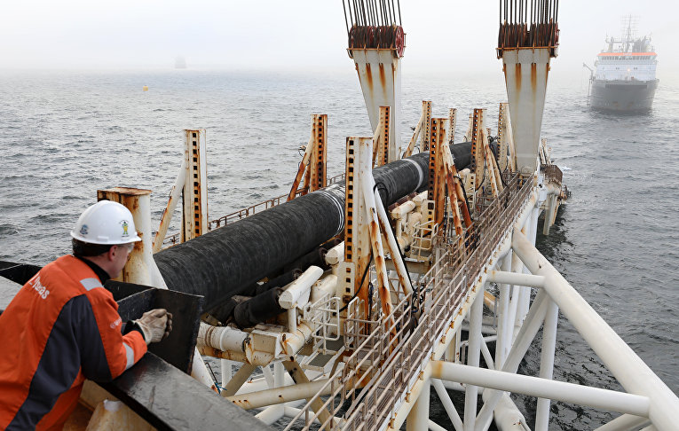 Судно-трубоукладчик строит «Северный поток — 2»