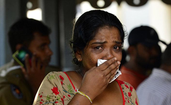 Родственники жертв теракта в Коломбо, Шри-Ланка