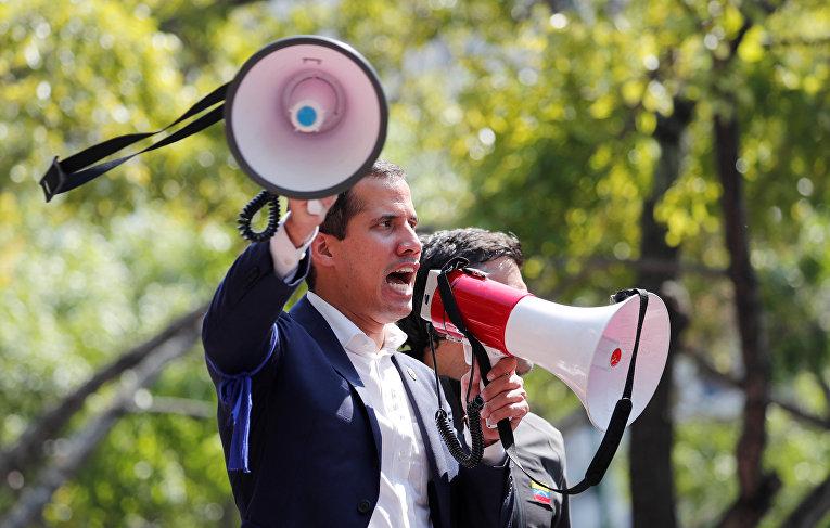 Лидер венесуэльской оппозиции Хуан Гуайдо