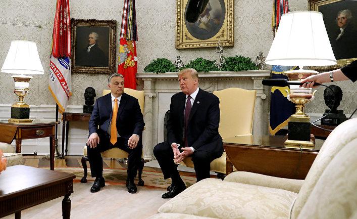 Президент США Дональд Трамп и премьер-министр Венгрии Виктор Орбан