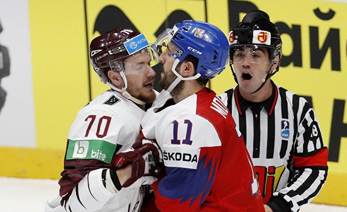 РФ выиграла уЛатвии матчЧМ похоккею срезультатом 3:1