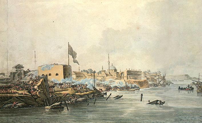 Гравюра С. Шифляра «Штурм Измаила 11(22) декабря 1790 года»