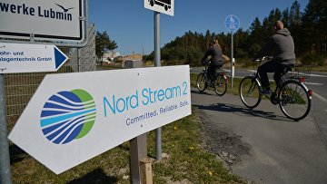 """Строительство газопровода """"Северный поток-2"""" в Германии"""