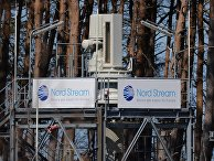 """Готовая часть газопровода """"Северный поток"""" в окрестностях города Любмин"""