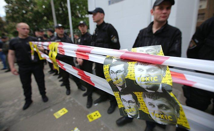 Акция против глав МВД и Генпрокуратуры Украины