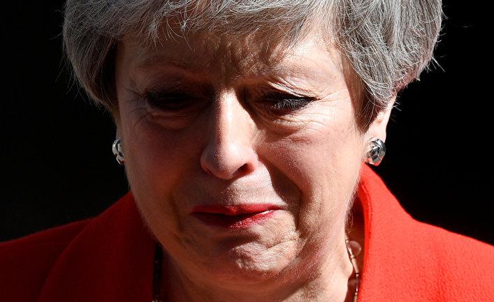 Тереза Мэй делает заявление об отставке в Лондоне, Великобритания