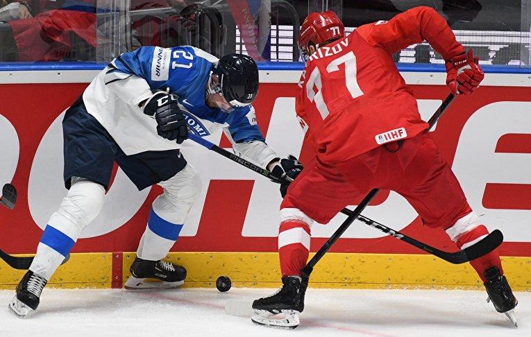 Хоккей. Чемпионат мира. Матч Россия - Финляндия