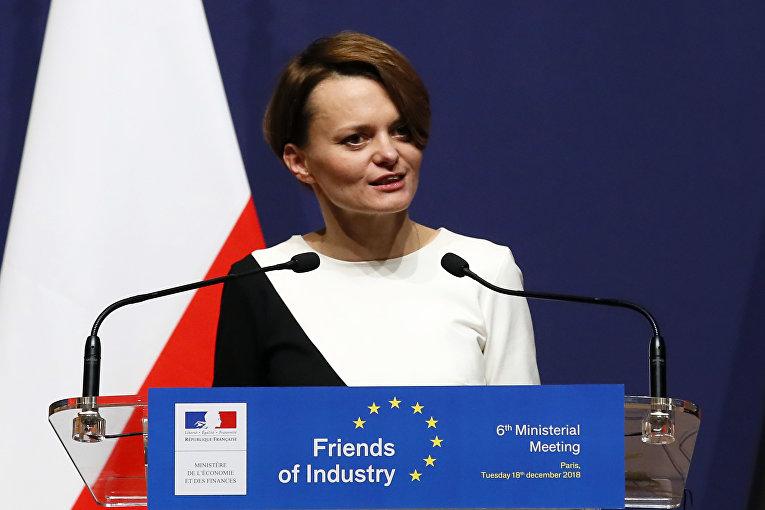 Ядвига Эмилевич, министр предпринимательства и технологий Польши