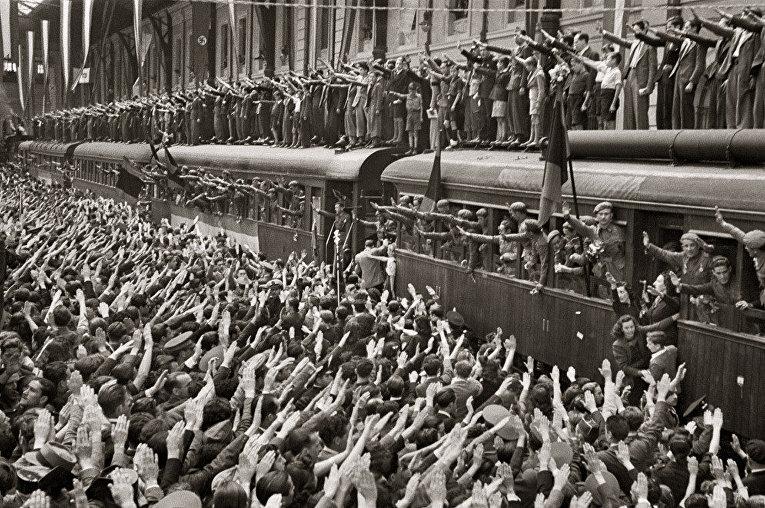 Проводы «Голубой дивизии», Мадрид, 1941 год