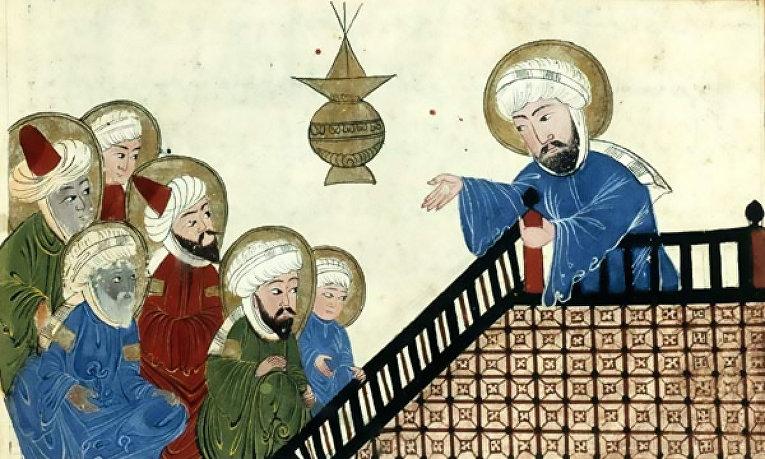 Пророк Мухаммед, оттоманская копия XVIII века манускрипта XIV века