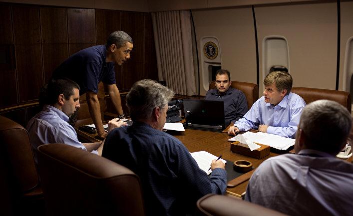 Президент США Барак Обама во время брифинга
