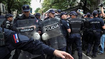 Слолкновения с полицией в Белграде, Сербия