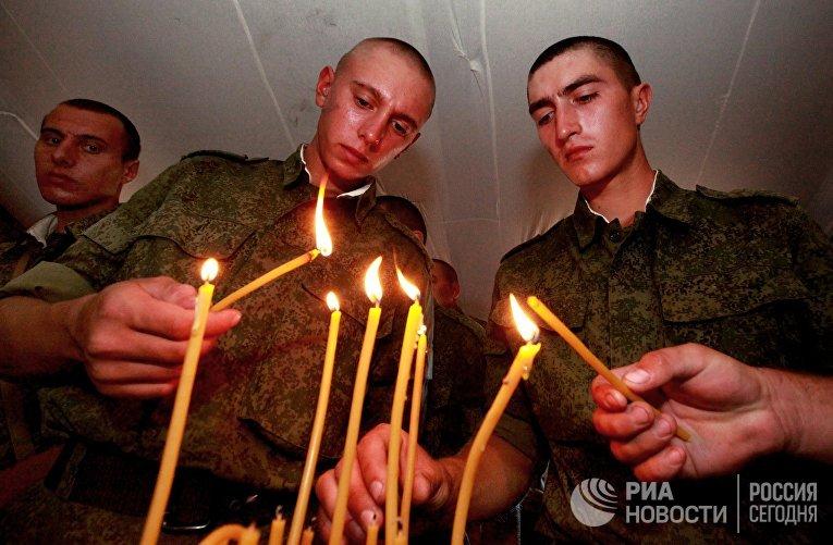 Освящение походного храма на полигоне Сергеевского учебного центра в Приморском крае