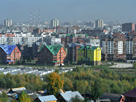 Вид на микрорайон Сипайлово в Уфе