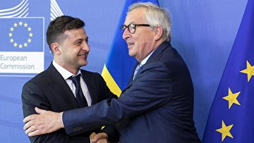 Президент Украины В. Зеленский встретился с главой ЕК в Брюсселе