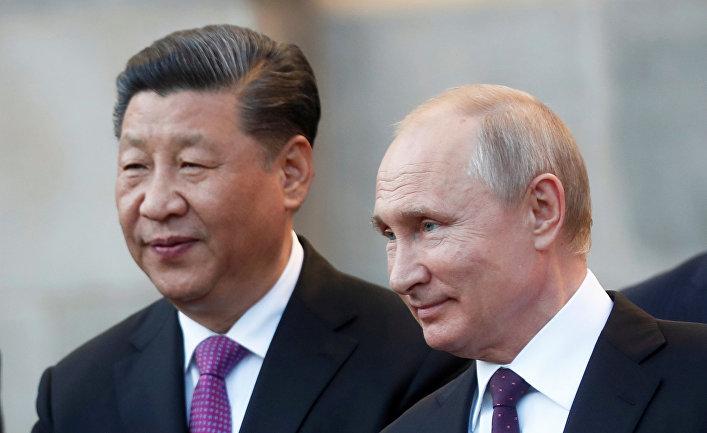 Президент РФ Владимир Путин и председатель Китайской Народной Республики Си Цзиньпин