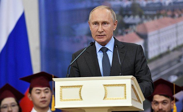 2acd7616c2dc Президент РФ В. Путин принимает участие в Петербургском международном  экономическом форуме