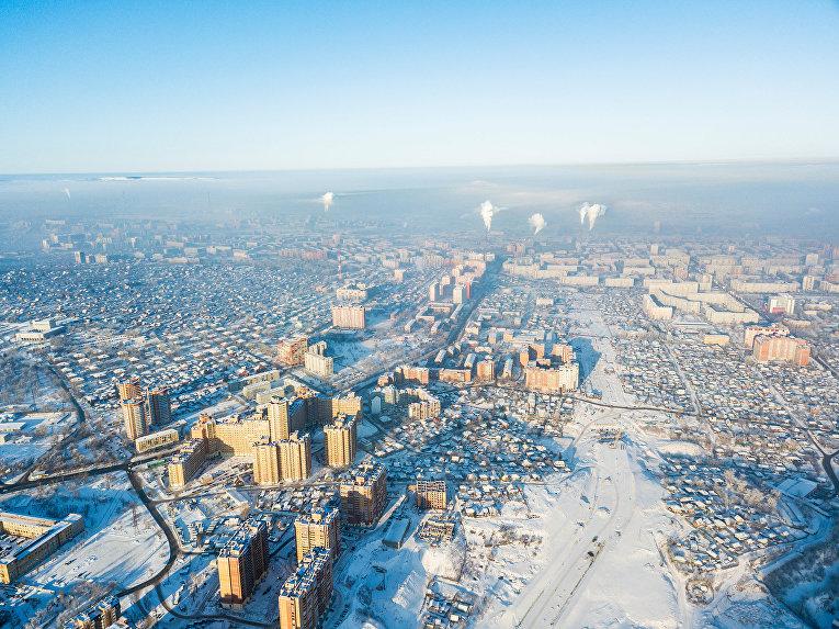 Красноярск зимой