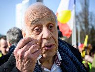 20 февраля 2019. Жан Циглер на акции протеста перед штаб-квартирой ООН в Женеве