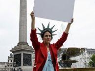 Акция против президента США Д. Трампа в Лондоне