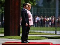 18 июня 2019. Владимир Зеленский и Ангела Меркель в Берлине