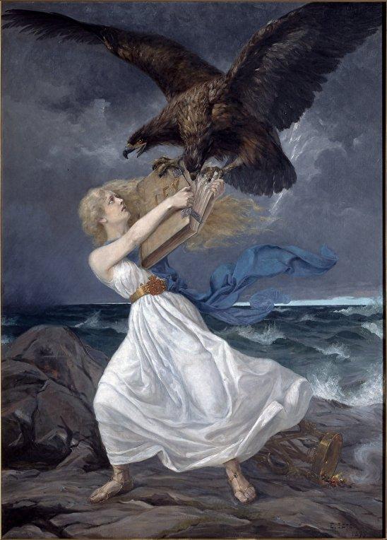 Картина финского художника Эдварда Исто «Атака»