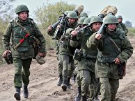 Военные учения на полигоне Балтийского флота в Калининградской области