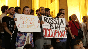 Протесты в Тбилиси, Грузия