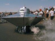 «Летающая тарелка» во время годовщины предполагаемой катастрофы НЛО возле Розуэлла