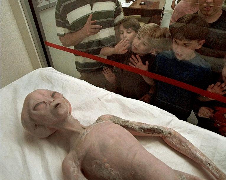 «Реконструкция» инопланетянина, выставленная вМеждународном музее НЛО вРозуэлле