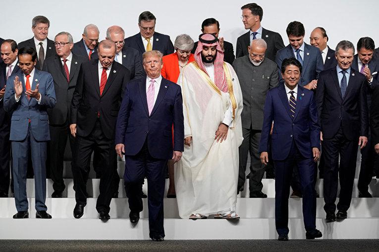 """Церемония совместного фотографирования глав делегаций государств – участников саммита """"Группы двадцати"""""""