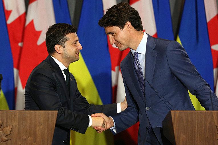 Владимир Зеленский в Торонто на встрече с Джастином Трюдо