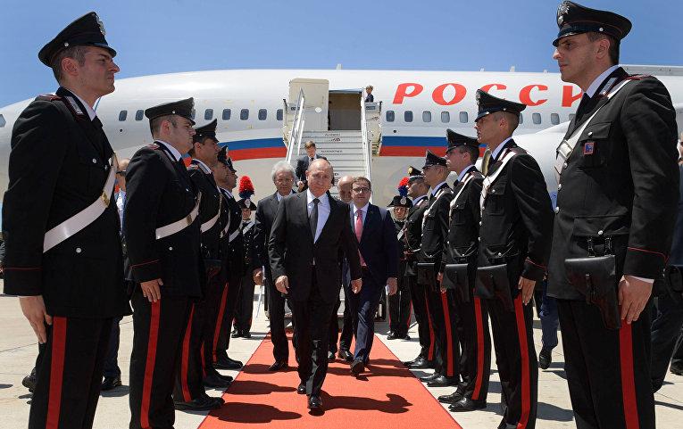 4 июля 2019. Владимир Путин прибыл в Италию