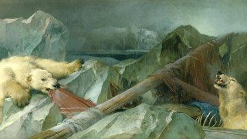 Картина «Человек предполагает, а Бог располагает». Эдвин Генри Ландсир, 1864 год