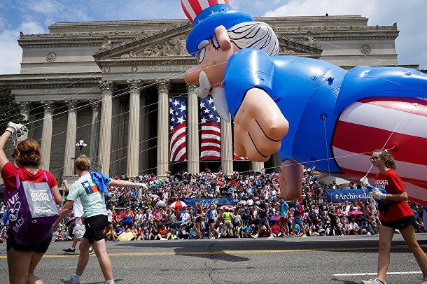 Праздничный парад в Вашингтоне